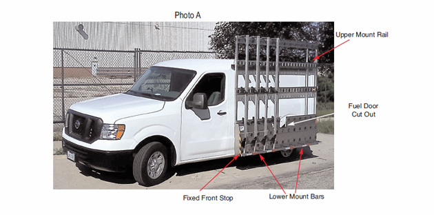 600 series mounting instructions for Nissan NV image 1.